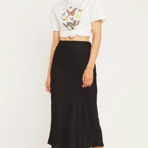 Urban Outfitters Bias Cut Silk Skirt